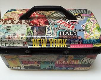 Decoupage Suitcase/ Train Case
