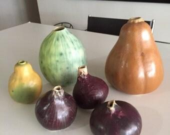 Patricia Garrett/Great Impressions/Studio Pottery/ Red Onion Ceramic Vase/Vintage Art Pottery/Vintage Vase/By Gatormom13