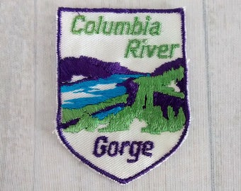 "2.75"" Sew On Columbia River Gorge Patch, Oregon Travel, Washington Souvenir, Pacific Northwest Collectible"
