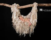 Photo Prop Blanket Baby Photo Prop Baby Blanket Newborn Baby Photo Prop Fringe Hammock Blanket Children Cream Neutral