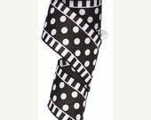 15%OFF 2.5 Inch Black White Dots and Stripes RG01371X6