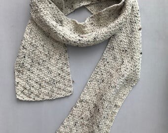 COLLECTION: LOMBARD Hand Knit Lightweight Wool Scarf