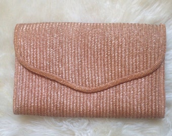 Oversized Straw Clutch with Shoulder Strap