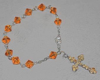 Golden Topaz Rosary Bracelet