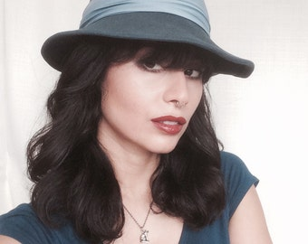 Blue fedora hat (womens)