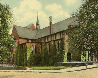 ALBANY New York Cathedral of All Saints Episcopal Unused Vintage Postcard Circa 1910s