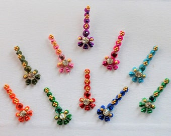 Crystal Face Gems Jewels Bindi Dots Bindis Beauty Body Art Accessories Festival