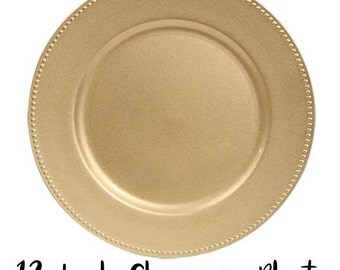 """13"""" Metallic Gold Wedding Party Plate Charger"""