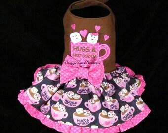 Sample Sale - Dog Dress - Hot Cocoa Dress  - Small