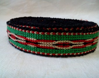 Uzbek handwoven cotton trim Jiyak. Tribal ethnic, boho, hippy trim. TR018
