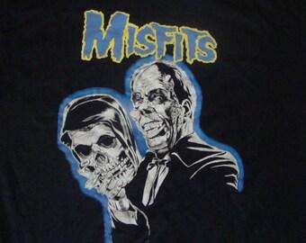 Vintage 90's MISFITS Danzig Fiend Club RARE punk rock heavy metal Concert tour T Shirt L