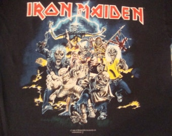 Vintage Iron Maiden Best Of the Beast Heavy Metal 1996 concert tour Bruce Dickenson T Shirt XL