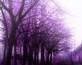 Horror Prints - Purple Fog, Gothic Art, City Art,Goth Art, Macabre,Dark Art,Dark Print, Weird Art,8x10,Creepy Print,Digital Art, Atmospheric