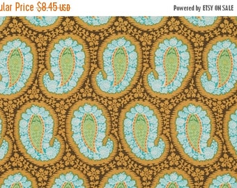 Christmas Sale Amy Butler Fabric - Henna Paisley in Blue from the Belle Collection