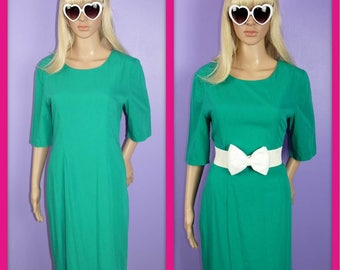 Vintage Kelly Green Short Sleeve Dress