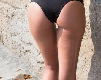 Sexy Swimwear Bikini Bottom Brazilian Style Cheeky Black Swimsuit Bottom - Brazil