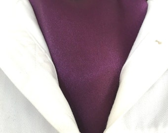 New Ascot Tie Cravat.   Purple satin