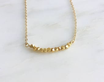 Tiny Gold Nuggets Necklace