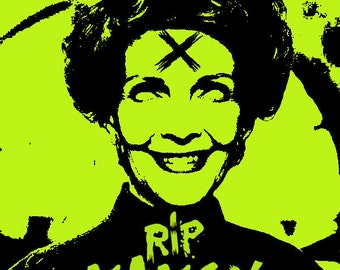 Nancy Reagan zombie punk pin