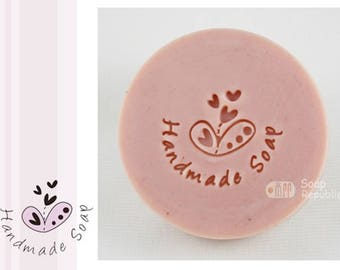 FREE SHIPPING! SoapRepublic Happiness with Handmade Soap Acrylic Soap Stamps / Cookie stamp