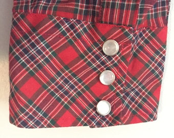 Vintage 1970s VIP Men's Shirt - Size Medium - Red Green Blue Plaid - Men's Clothing / Gifts for Him / Gifts under 50 / Vintage Mens Clothing