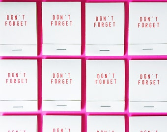 Don't Forget Matchbook Notepads