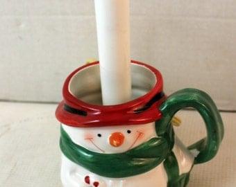 Homemade snowman accent lamp seasonal home decor Christmas