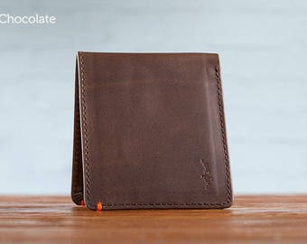 SECONDS - The Classic Journeyman Leather Wallet - Chocolate