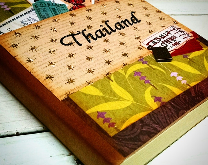 Featured listing image: CUSTOM ORDER Honeymoon Travel Journal Smashbook Art Journal Keepsake Unlined Pages