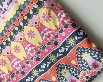 Sale! Silent Cinema Metropolis Pink Stripe Quilting Fabric by Jenean Morrison, OOP, HTF