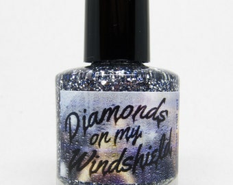 Diamonds On My Windshield Custom Nail Polish SFEtsy