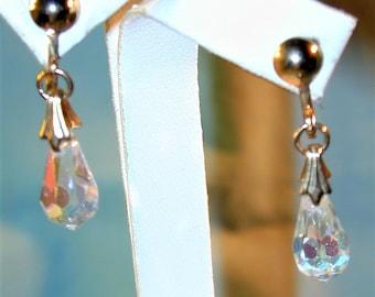 Vintage Aurora Crystal Briolette Earrings
