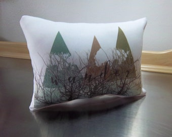 mountain pillows wander pillow white poplin throw pillow teal mocha olive cushion gift for parents gift for new home adventure home decor
