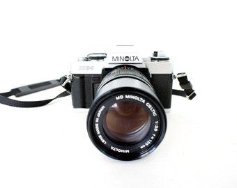 Vintage Minolta XG-1 SLR Film Camera  and Film -  Working Film Tested