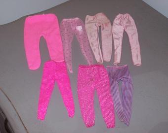 Vintage Barbie Leggings Legwear Lot of 7 Pink Colors