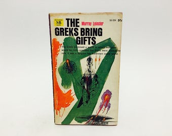 Vintage Sci Fi Book The Greks Bring Gifts by Murray Leinster 1964 Paperback