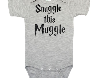 Snuggle This Muggle Bodysuit - Harry Potter Bodysuit - Boy Baby Shower Gift - Harry Potter Baby Boy Gift - Harry Potter Baby Gift