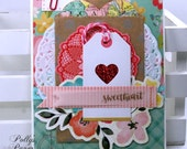 Sweetheart Valentine Greeting Card Polly's Paper Studio Handmade
