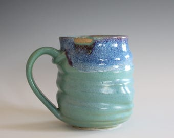 Pottery Coffee Mug, 12 oz, unique coffee mug, handmade ceramic cup, handthrown mug, stoneware mug, wheel thrown mug, ceramics and pottery