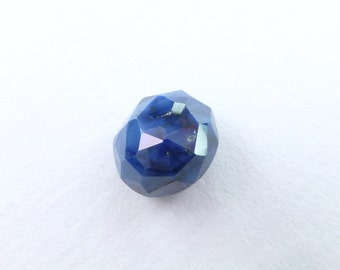 Blue SAPPHIRE. 100% Natural. Blue Unheated / Untreated. Oval Rose Cut. Freeform. Can Be Drilled. Geometric. 7.25cts. 11x10x6 mm (S2058)