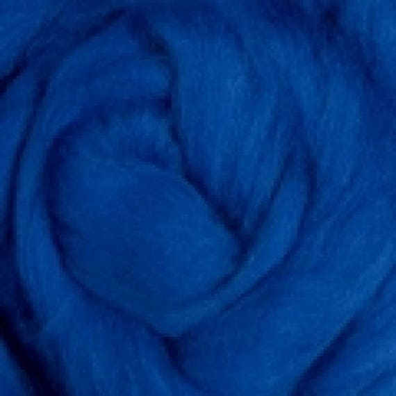 Merino Roving- 4 ounces -Blue- 21.5 microns Ashland Bay offered by Spinderellas Creations Great for Spinning, Felting,Knitting, Weaving