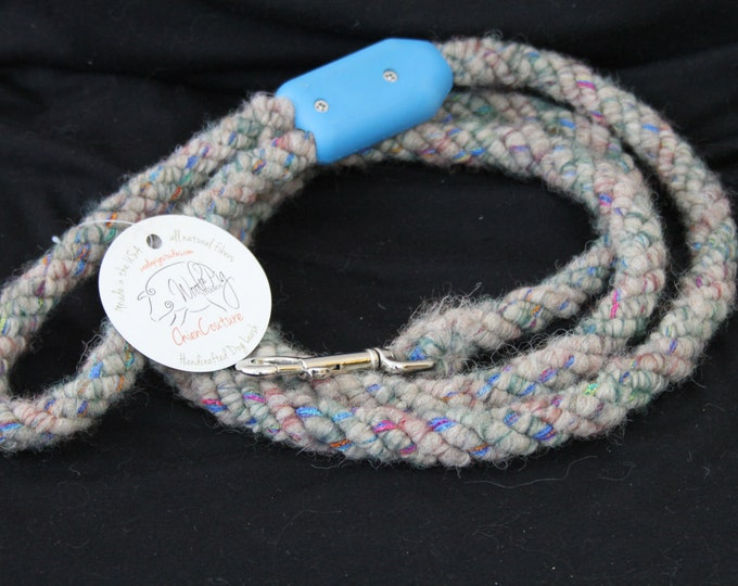 Dog Leash- Handcrafted- Alpaca-Wool and other natural Fibers - DL-01