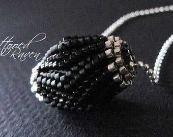 Basic Little Black Blooming Bead