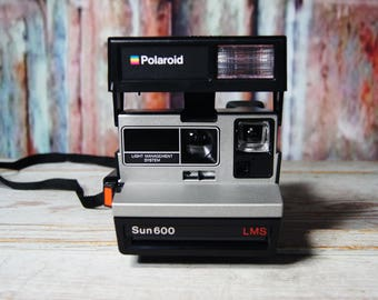 Polaroid Sun 600 LMS Instant Film Camera ~ tested ~ working