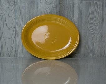 Fiesta ware yellow vintage oval platter