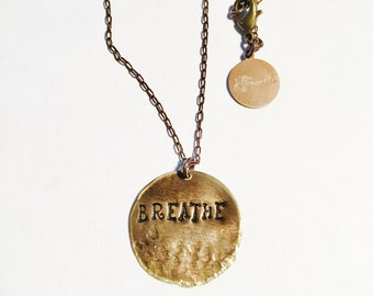 Breathe Affirmation Necklace