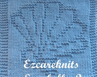 Knitting Cloth Pattern - SEASHELL - 2 - PDF