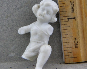 Antique Excavated  German Angel  Cupid Cherub Putti for Altered Art Doll Making