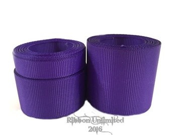 10 Yards WHOLESALE Solid Purple grosgrain ribbon LOW SHIPPING Cost