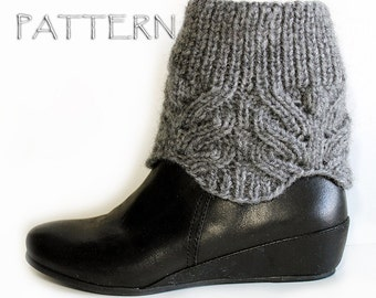 Knit Lace Boot Toppers Pattern PDF